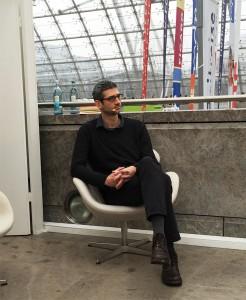 Nicolas Mahler, Preis der Literaturhäuser 2015 vor dem Gespräch am arte-Stand (© Alke Müller-Wendlandt)