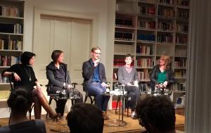 v.l.n.r. Karla Paul, Kathrin Passig, Florian Kessler, Katja Engelhardt & Marie Schmidt